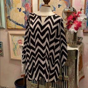 Lovely Zebra stripes on a polyester 3X Blouse. $15